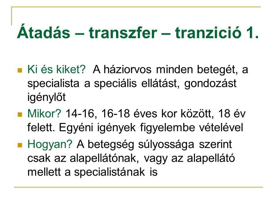Átadás – transzfer – tranzició 1.