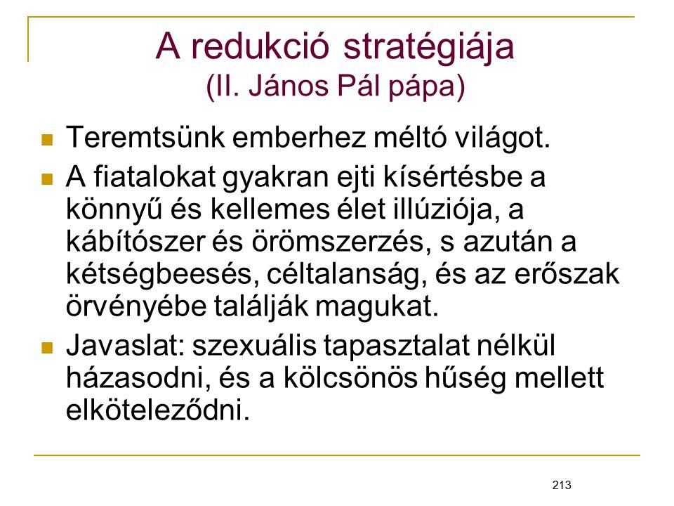 A redukció stratégiája (II. János Pál pápa)