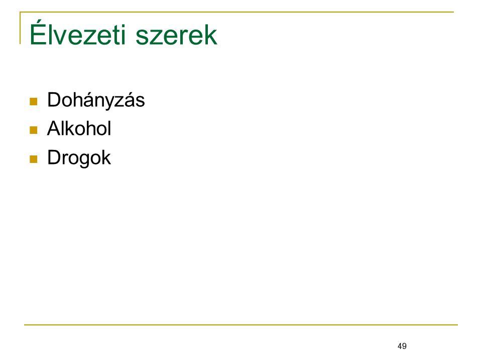 Élvezeti szerek Dohányzás Alkohol Drogok 49