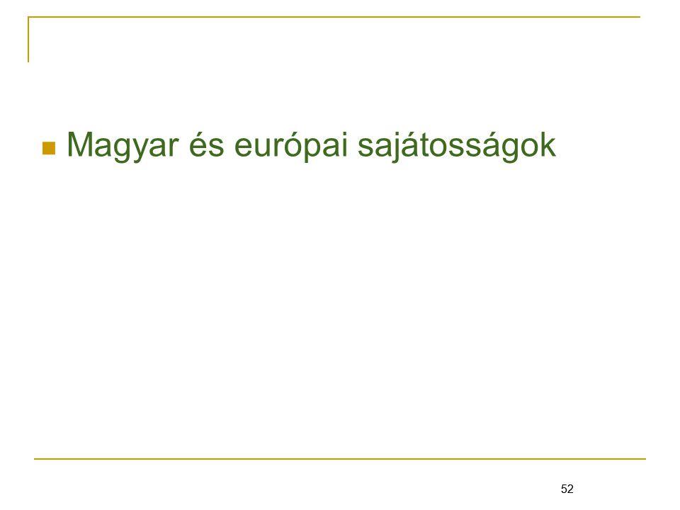 Magyar és európai sajátosságok
