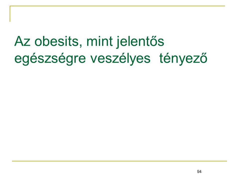 Az obesits, mint jelentős egészségre veszélyes tényező