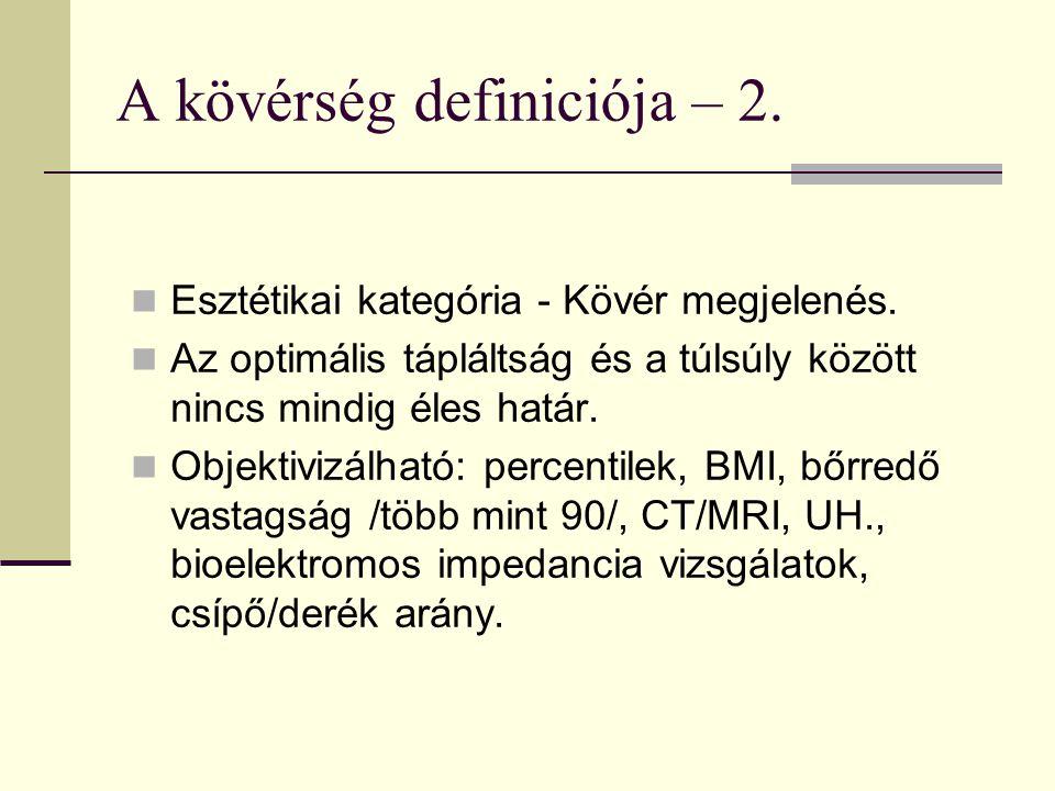 A kövérség definiciója – 2.