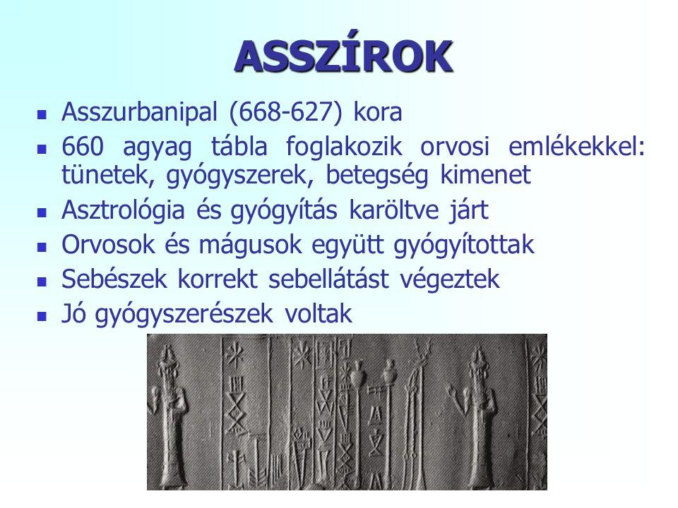 ASSZÍROK Asszurbanipal (668-627) kora