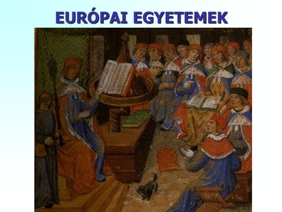 EURÓPAI EGYETEMEK