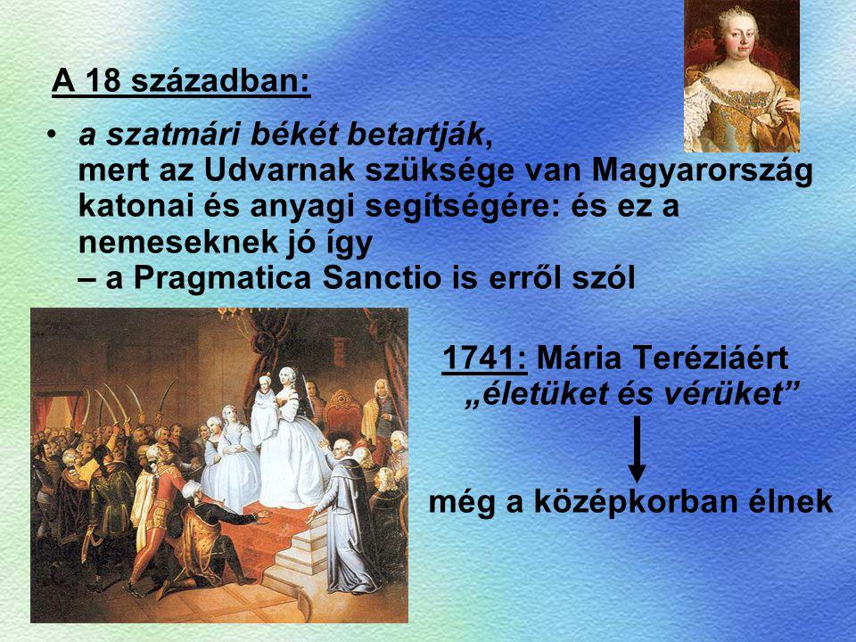 A 18 században: