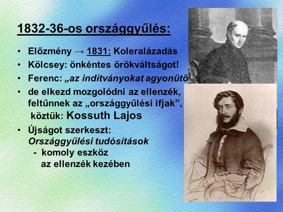 1832-36-os országgyűlés: Előzmény → 1831: Koleralázadás