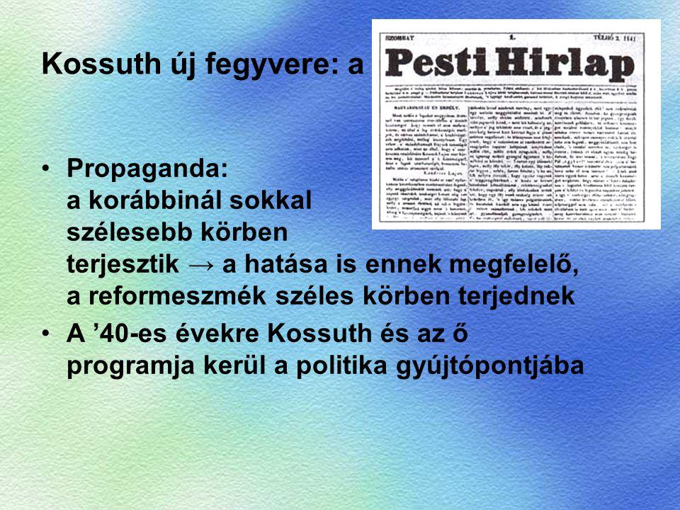 Kossuth új fegyvere: a