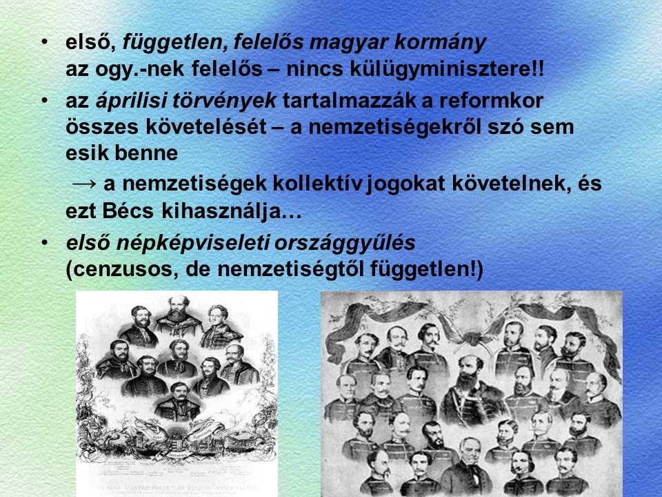 első, független, felelős magyar kormány az ogy