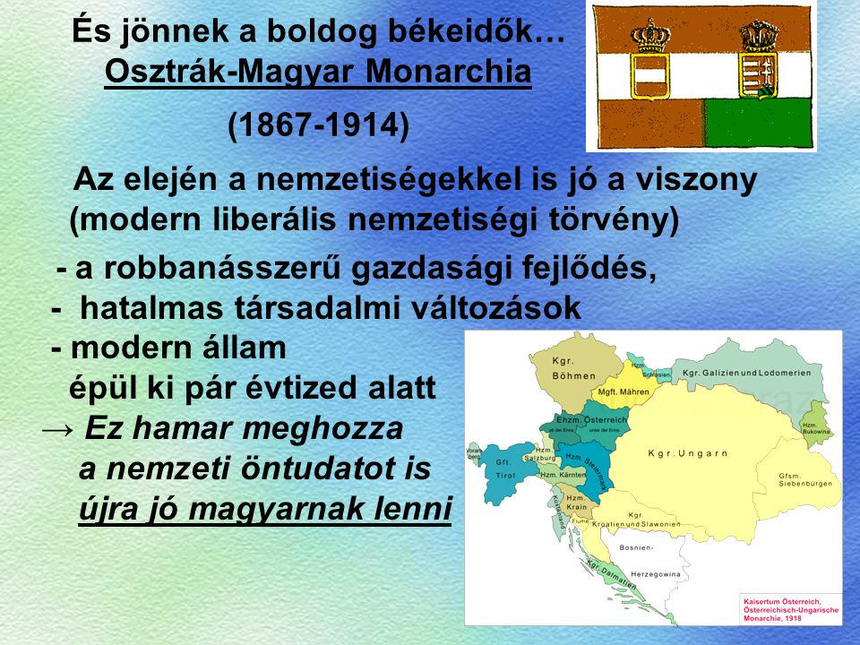 És jönnek a boldog békeidők… Osztrák-Magyar Monarchia (1867-1914)