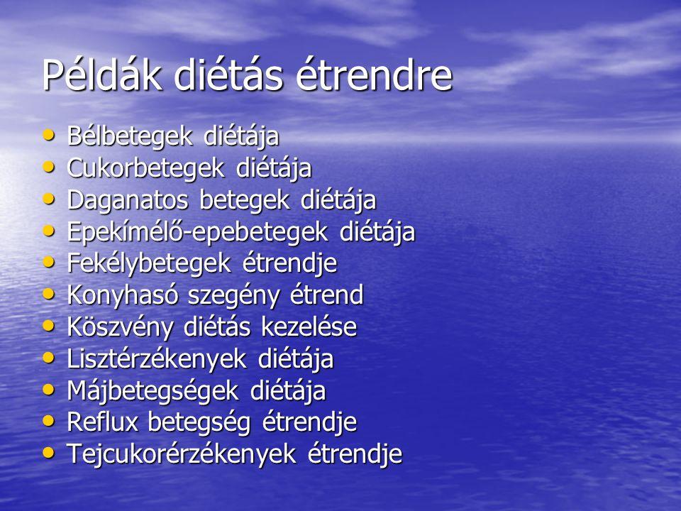 Példák diétás étrendre