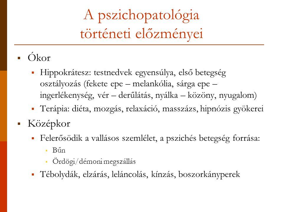 A pszichopatológia történeti előzményei