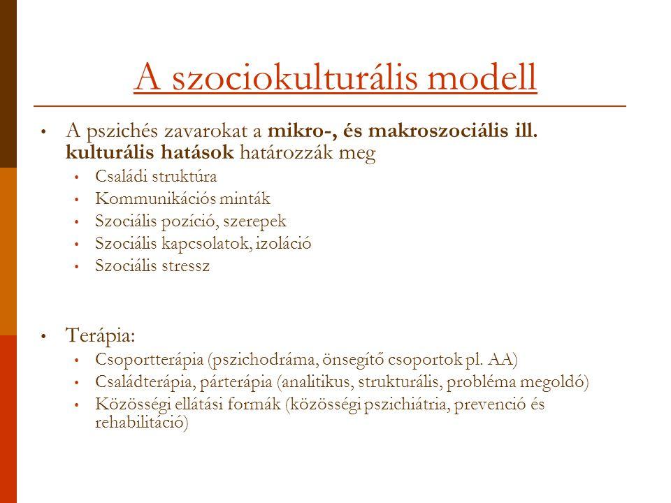 A szociokulturális modell