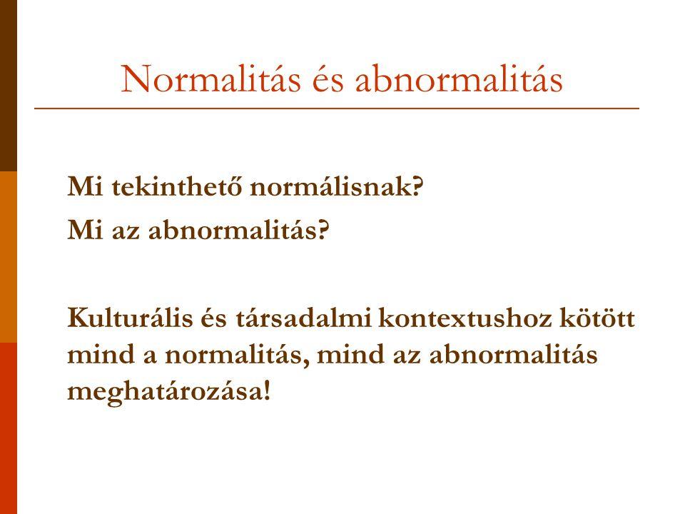 Normalitás és abnormalitás