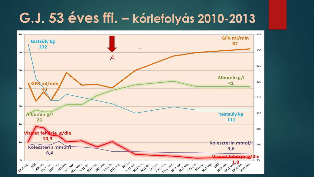 G.J. 53 éves ffi. – kórlefolyás 2010-2013