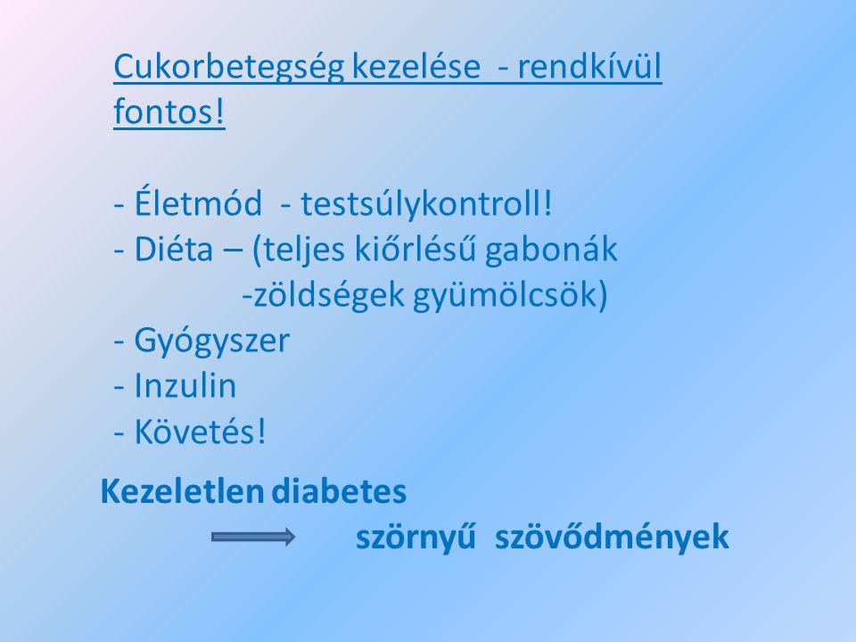 Cukorbetegség kezelése - rendkívül fontos!