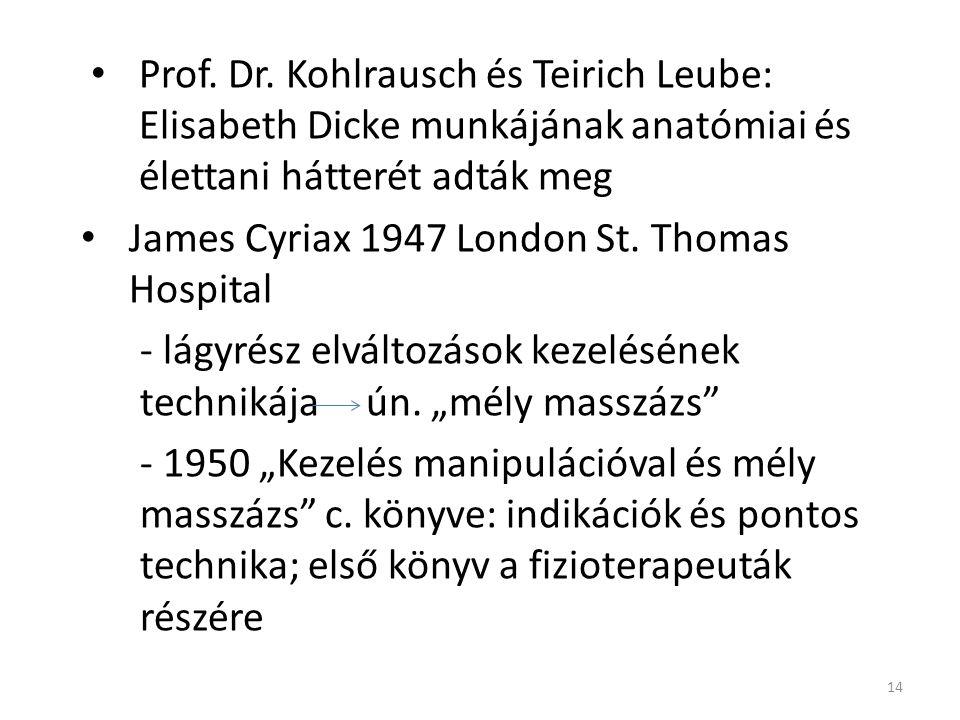 Prof. Dr. Kohlrausch és Teirich Leube: Elisabeth Dicke munkájának anatómiai és élettani hátterét adták meg