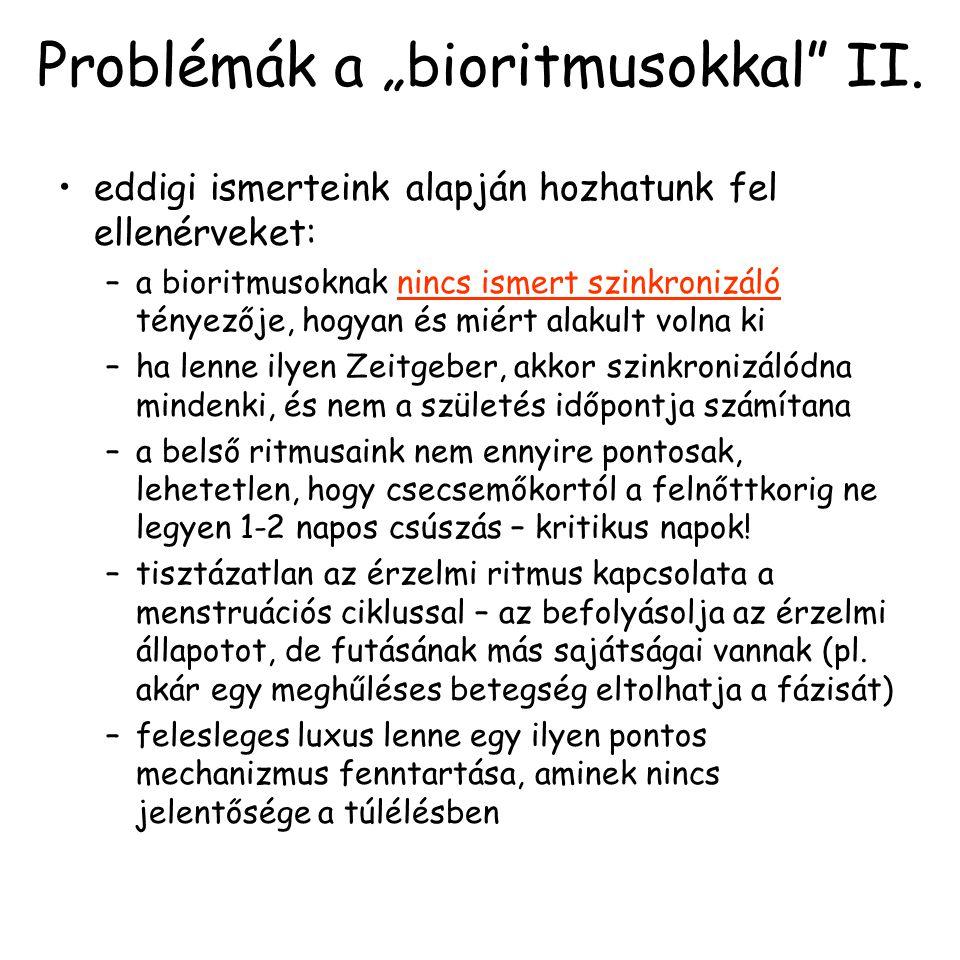 "Problémák a ""bioritmusokkal II."
