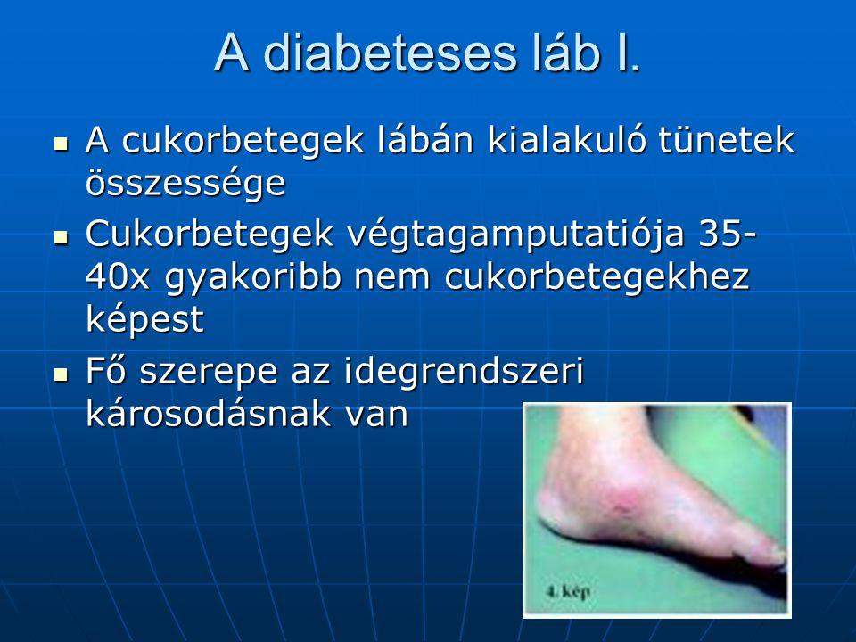 A diabeteses láb I. A cukorbetegek lábán kialakuló tünetek összessége