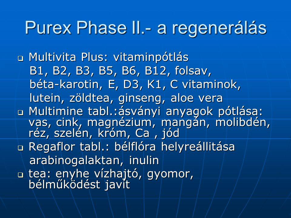 Purex Phase II.- a regenerálás
