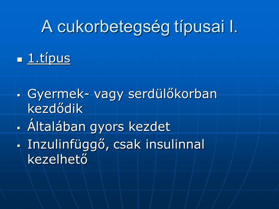 A cukorbetegség típusai I.