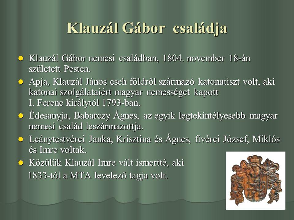 Klauzál Gábor családja