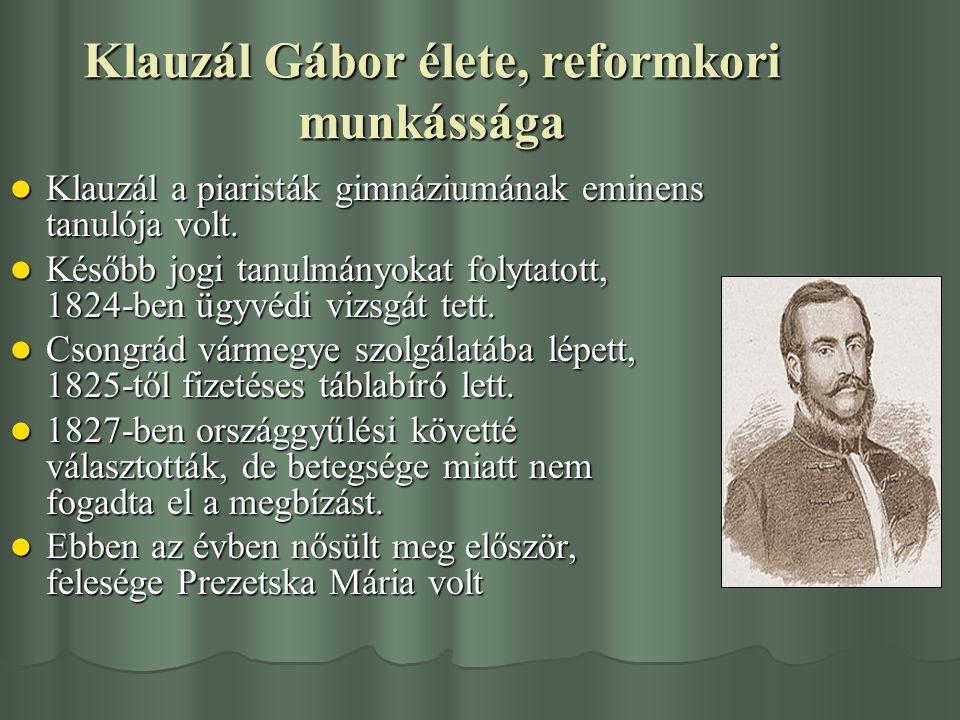 Klauzál Gábor élete, reformkori munkássága