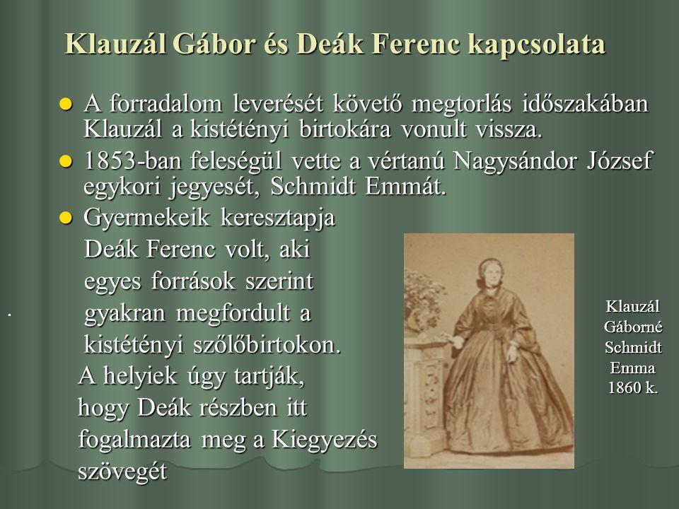 Klauzál Gábor és Deák Ferenc kapcsolata