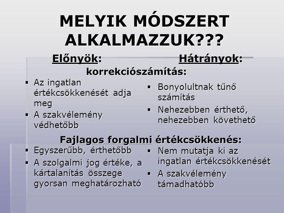 MELYIK MÓDSZERT ALKALMAZZUK