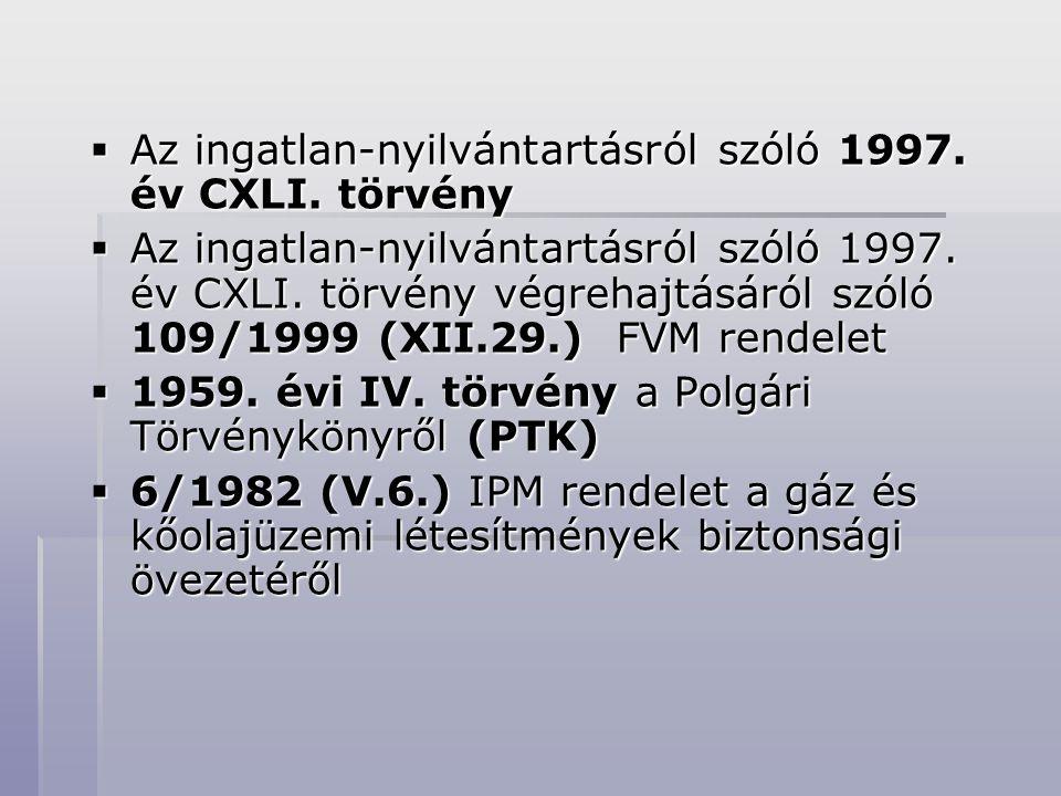 Az ingatlan-nyilvántartásról szóló 1997. év CXLI. törvény