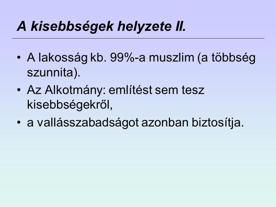 A kisebbségek helyzete II.