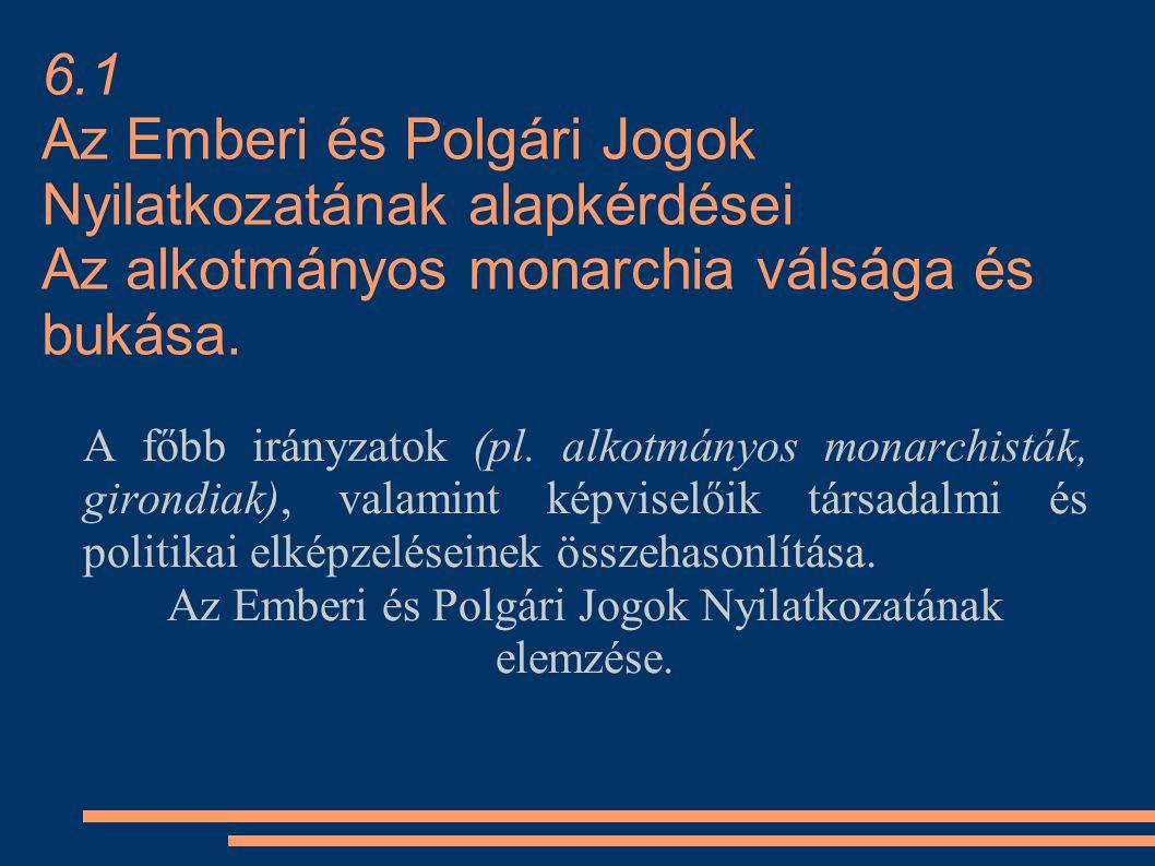 Az Emberi és Polgári Jogok Nyilatkozatának elemzése.