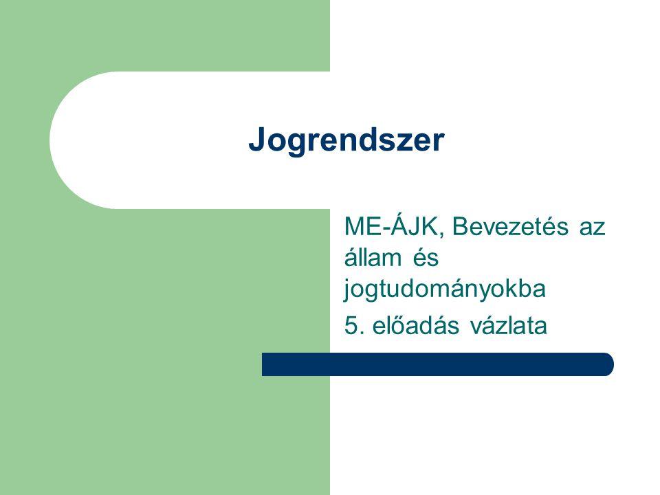 ME-ÁJK, Bevezetés az állam és jogtudományokba 5. előadás vázlata