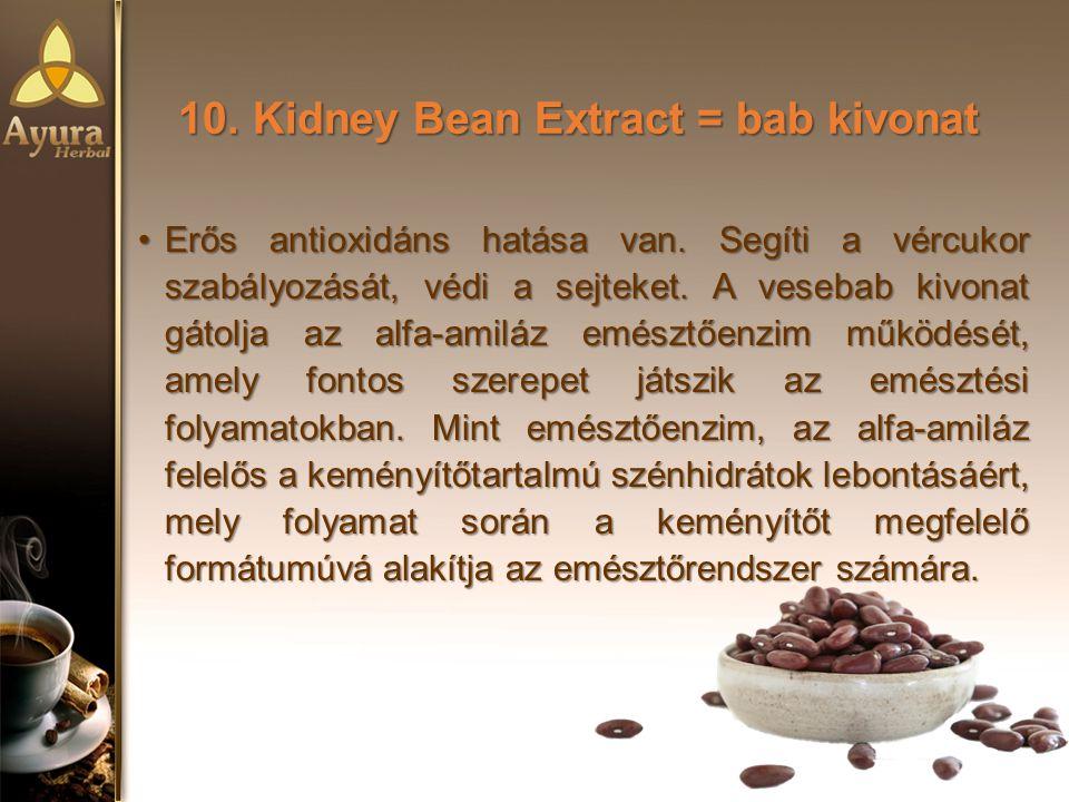 10. Kidney Bean Extract = bab kivonat