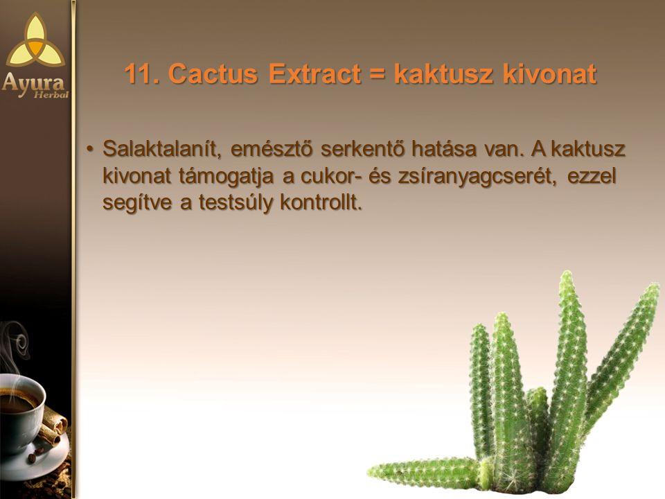 11. Cactus Extract = kaktusz kivonat