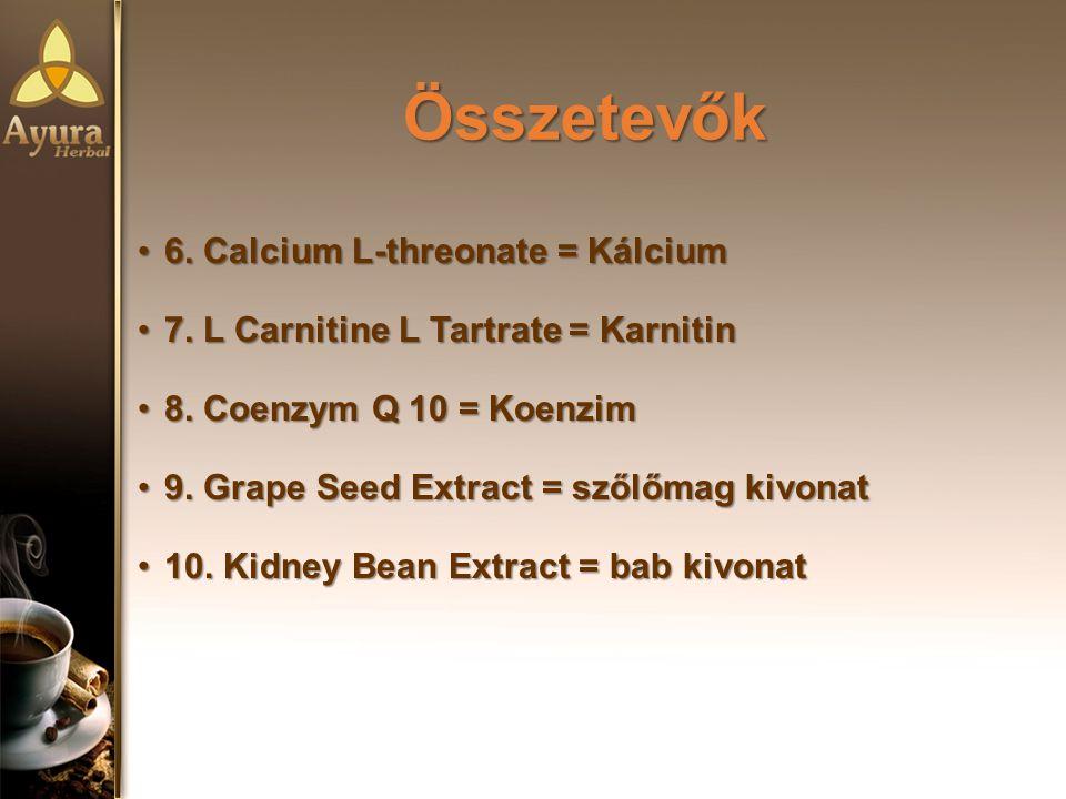 Összetevők 6. Calcium L-threonate = Kálcium