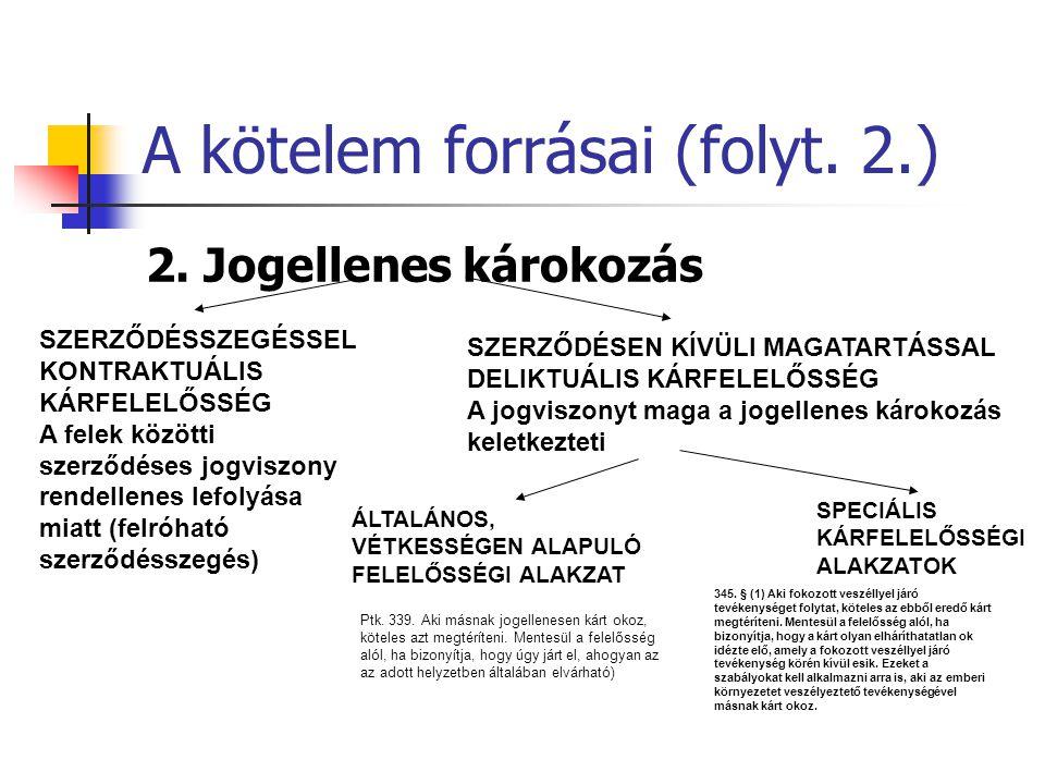 A kötelem forrásai (folyt. 2.)