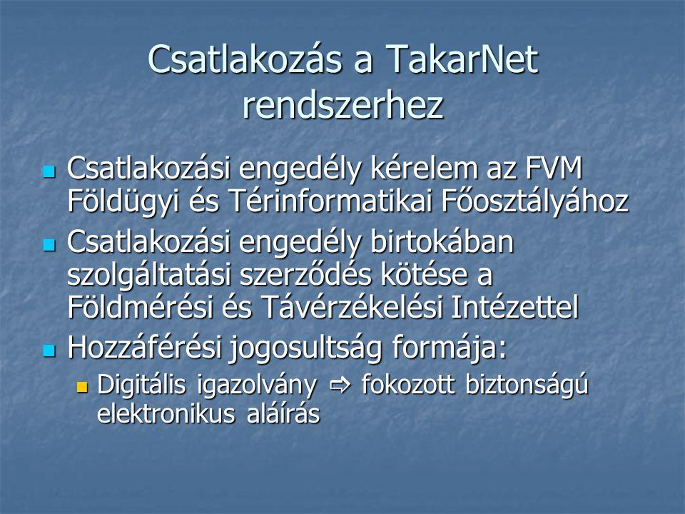 Csatlakozás a TakarNet rendszerhez