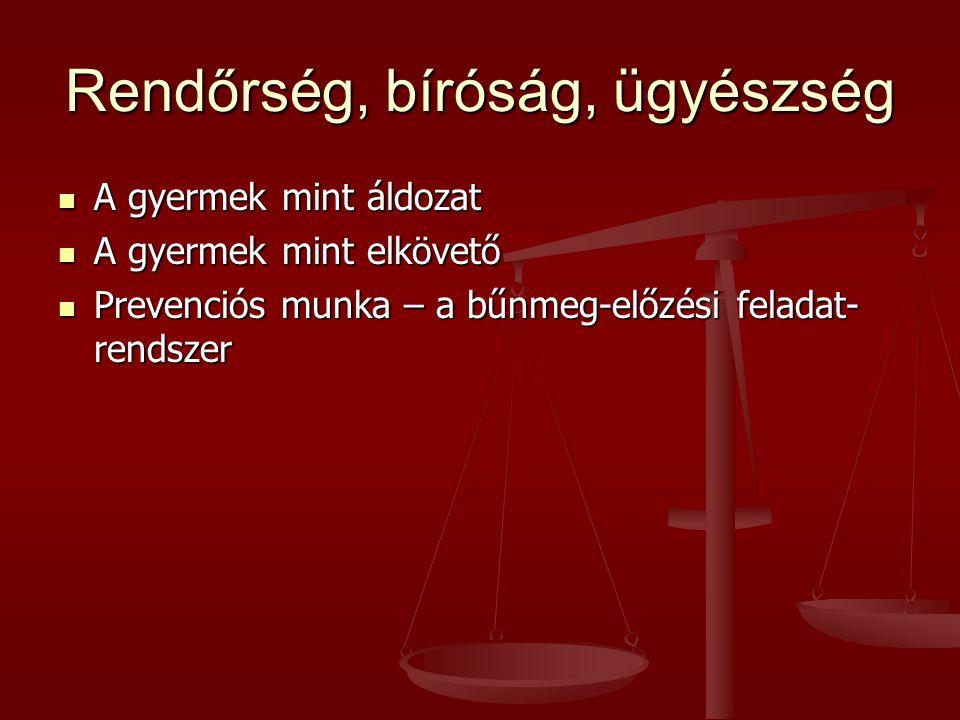 Rendőrség, bíróság, ügyészség