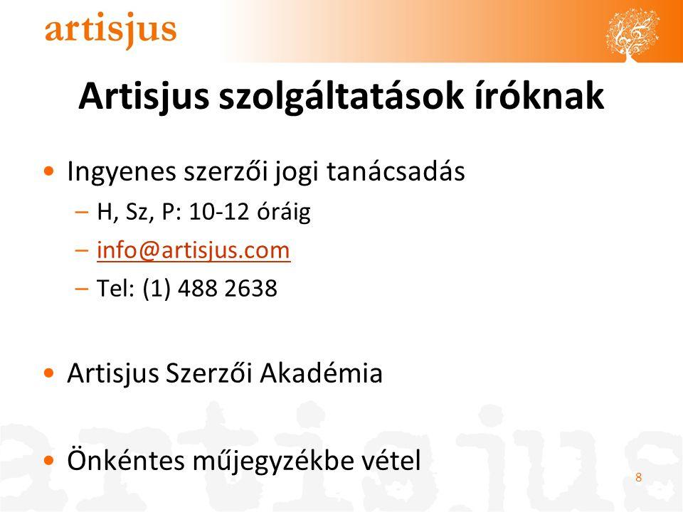 Artisjus szolgáltatások íróknak