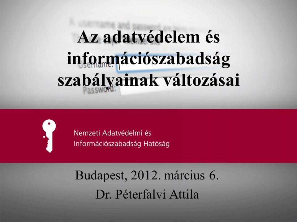 Az adatvédelem és információszabadság szabályainak változásai