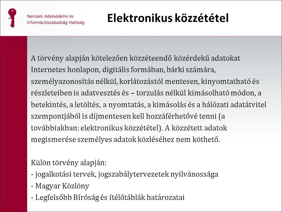 Elektronikus közzététel