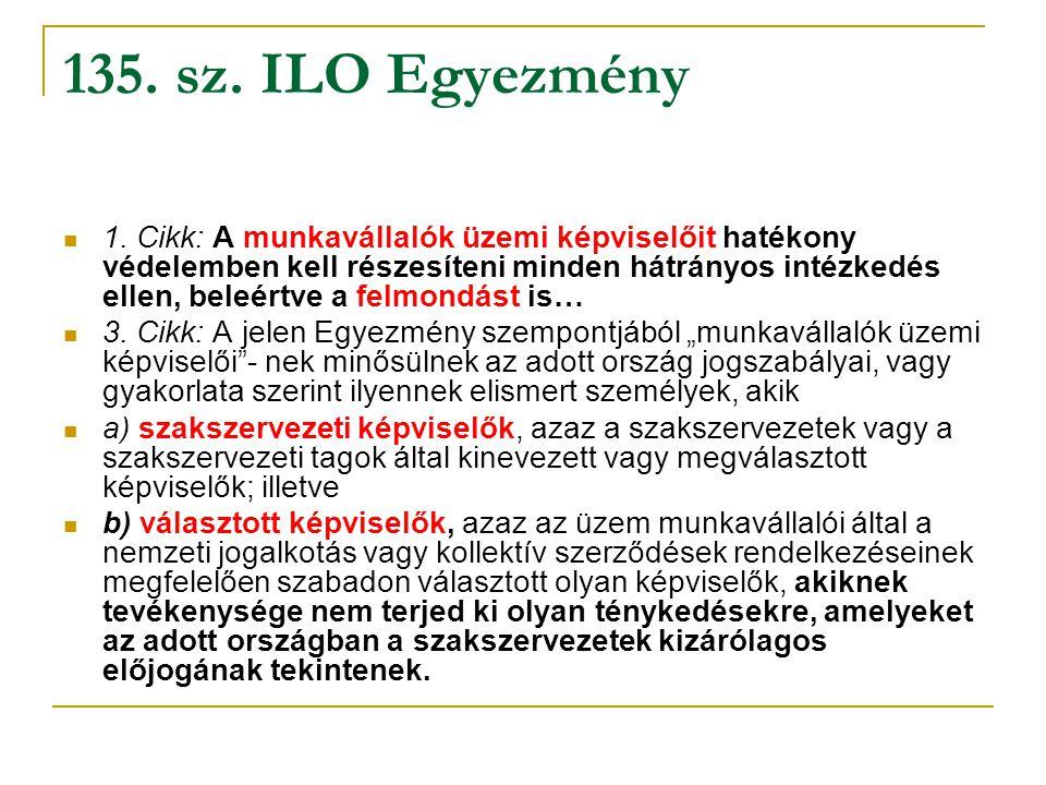 135. sz. ILO Egyezmény
