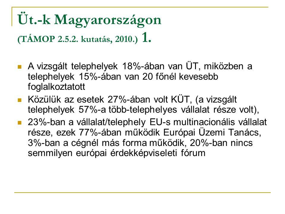 Üt.-k Magyarországon (TÁMOP 2.5.2. kutatás, 2010.) 1.