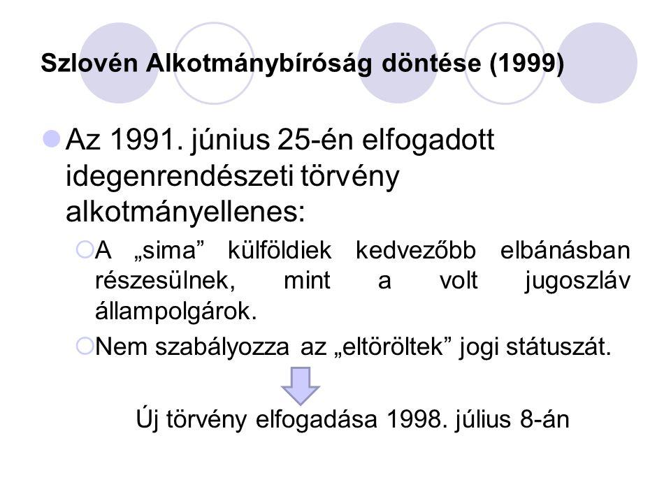 Szlovén Alkotmánybíróság döntése (1999)