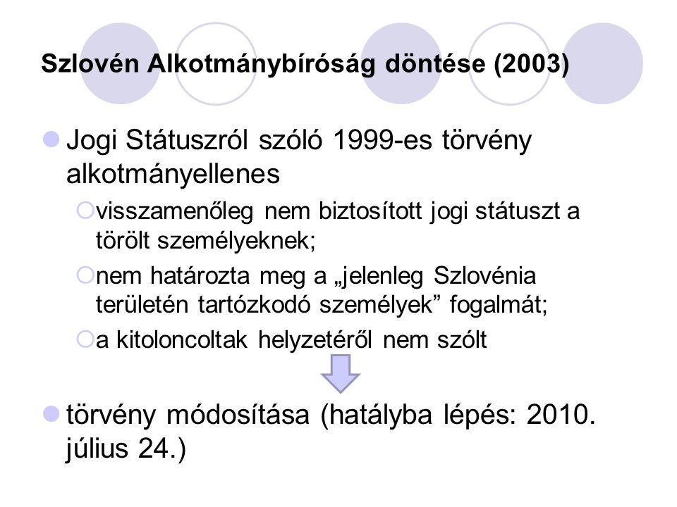 Szlovén Alkotmánybíróság döntése (2003)
