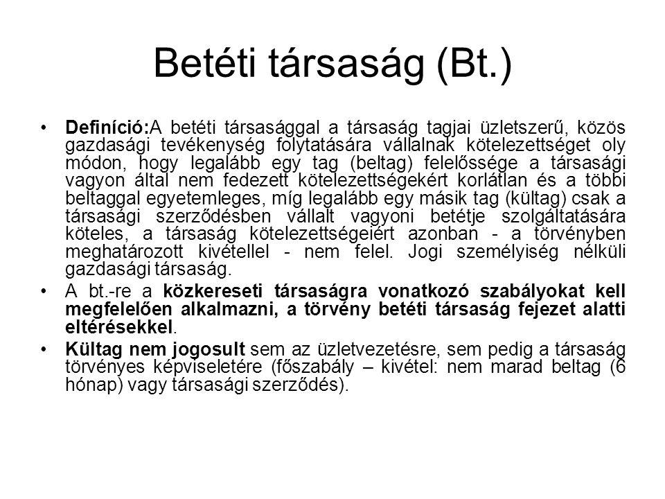 Betéti társaság (Bt.)