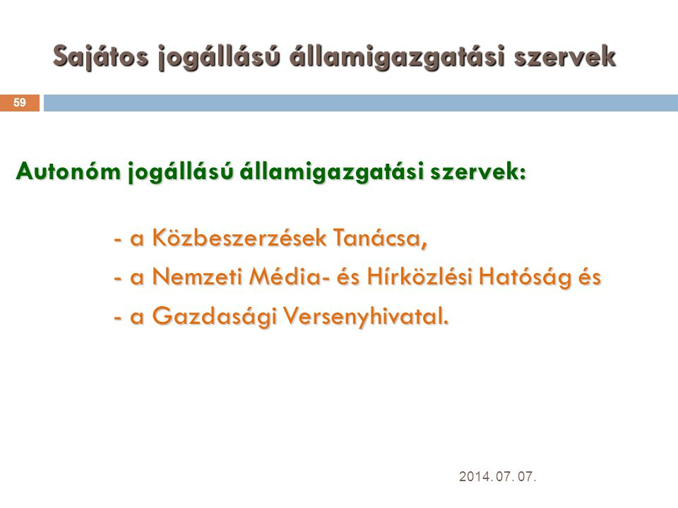 Sajátos jogállású államigazgatási szervek