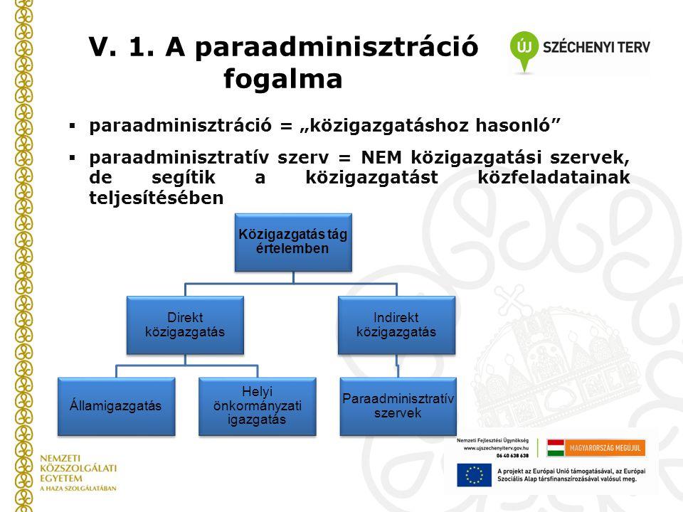 V. 1. A paraadminisztráció fogalma