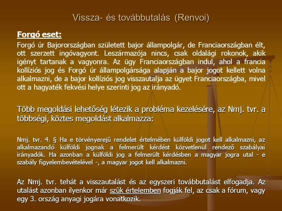 Vissza- és továbbutalás (Renvoi)
