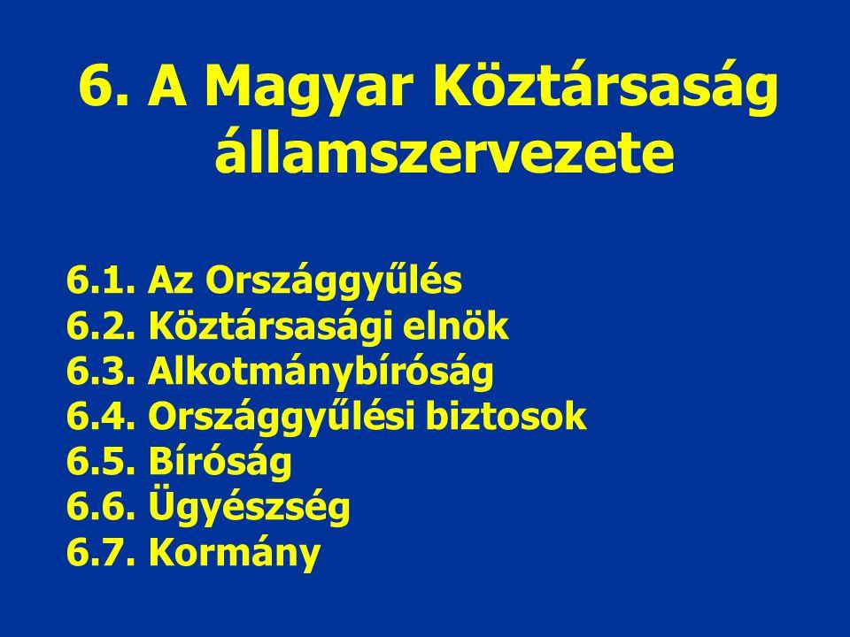6. A Magyar Köztársaság államszervezete